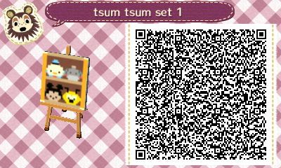 Tsum tsum qr codes for Animal Crossing New Leaf!