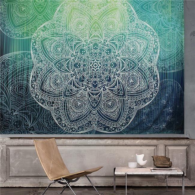 Indian Decor Mandala Tapestry Wall Hanging Hippie Throw Bohemian Dorm Bedspread