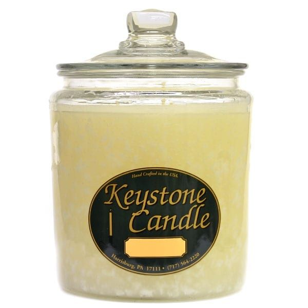 1 Pc 64 oz Suntan Lotion Jar Candles 5.5 in. diameter x 7.75 in. tall, White coconut (Glass)