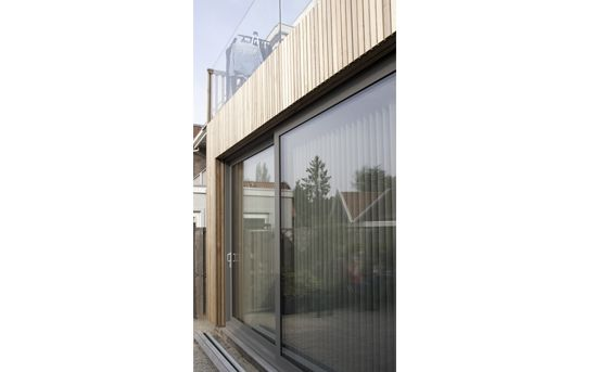 exterior facade extension with western red cedar cladding