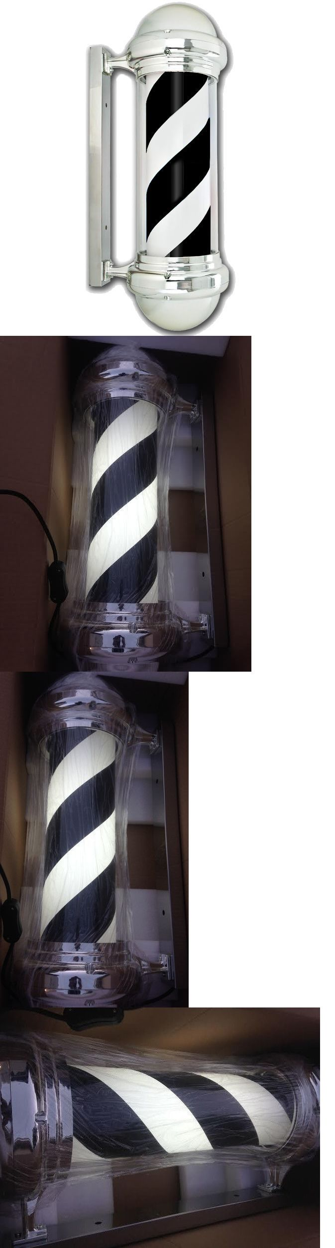 Other Salon and Spa Equipment: Led Barber Pole Black And White Chair Salon Shop Light Sign -> BUY IT NOW ONLY: $199.99 on eBay!