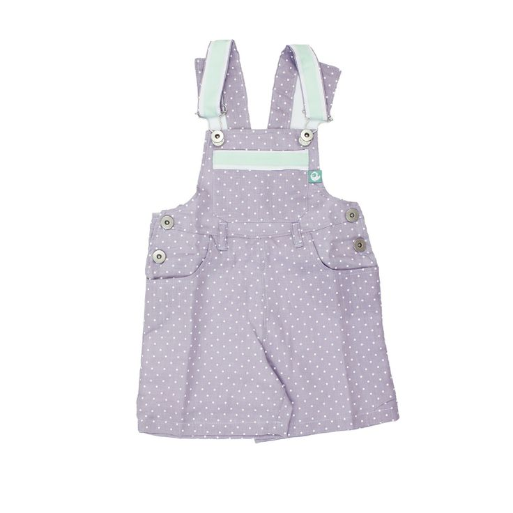 Purple Linen Dungarees Shorts from Lace & Ribbons #kids #fashion