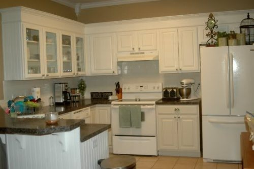 White Kitchen With White Oak Kitchen Cabinets Paint I Want The