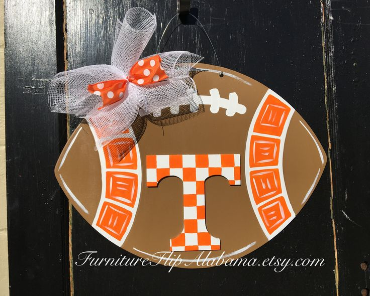 Tennessee vols door hanger,3D Tennessee university Football door hanger, Tn football wreath, door sign,party door decor tn sports wreath by Furnitureflipalabama on Etsy