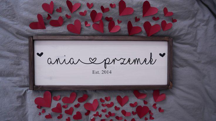 Personalized Name Sign | Weeding idea | Weeding gift | Love | Wooden sign | Prezent ślubny | Prezent | Dekoracje drewniane