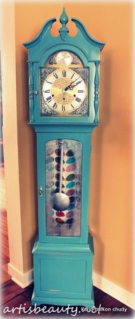 Refinished Grandfather Clock-- I have been wanting to do my own version for quite some time now.