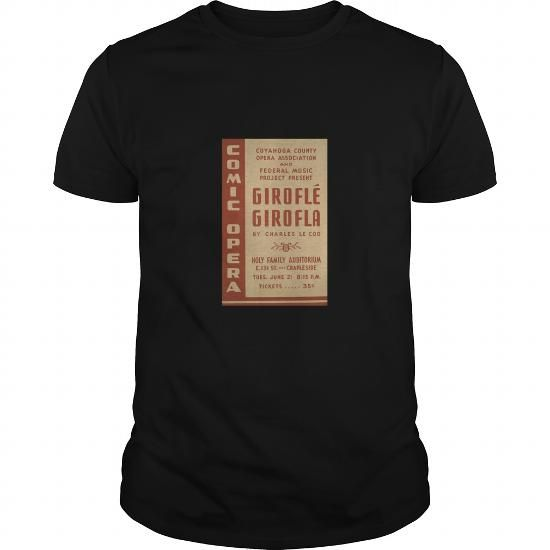 I Love WPA United States Government Work Project Administration Poster 0727 Cuyahoga County pera Association Girofle Charles Le Coq Holy Family Auditorium SHIRT T-Shirts