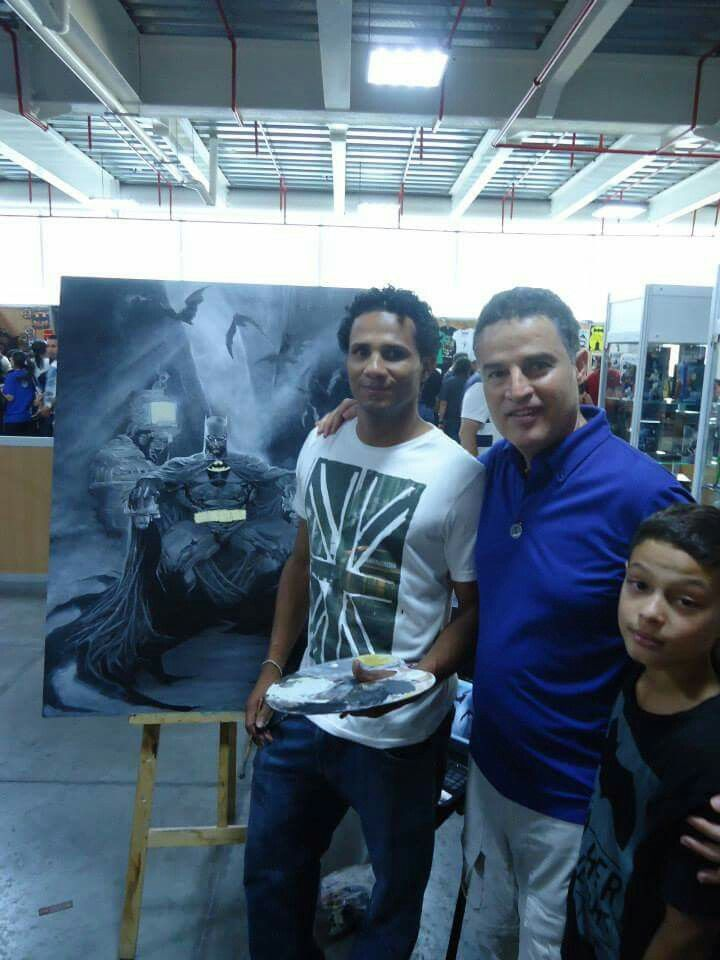 Comic Con Colombia 2014 Daking Y and Major of the Medellin City