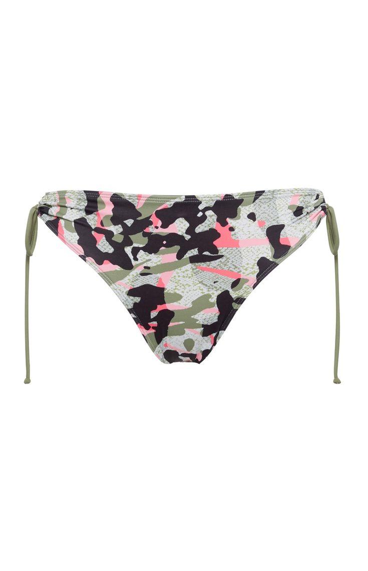 Camo Tie Side Bikini Bottoms