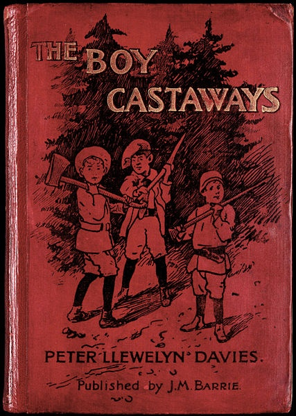 The Boy Castaways (of Black Lake Island) by Peter Llewelyn Davies. J.M. Barrie, publisher.