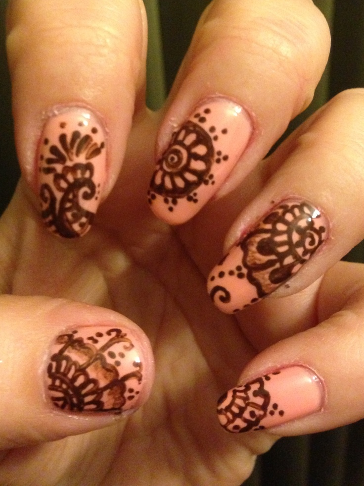Mehndi For Nails : Henna nails made by me pinterest
