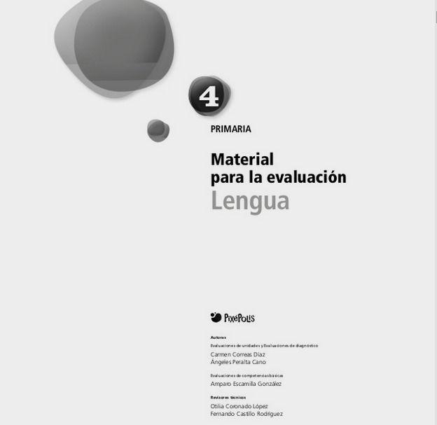Lengua Edelvives 4º primaria. Material para la evaluación.