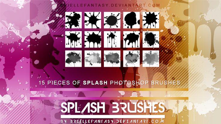 Splash Photoshop Brushes by BrielleFantasy.deviantart.com on @DeviantArt
