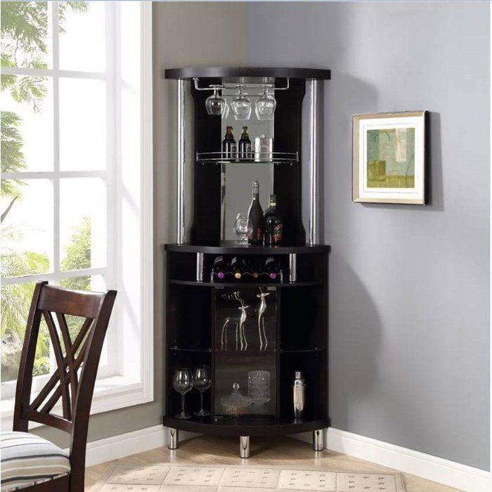 Ashfield Bar With Wine Storage Corner Bar Bar Furniture Wine