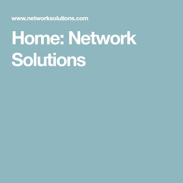 Home: Network Solutions