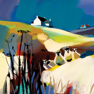 Keepers Of The Cottage Limited Edition - ART PRINT BY PAM CARTER, SCOTTISH ARTIST