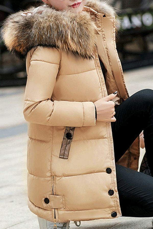 Jaycargogo Womens Winter Fleece Plus Size Thick Hooded Mid Long Down Jacket Coat Red XXL