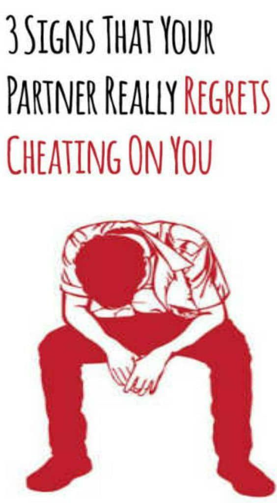 3 signs that your partner really regrets cheating on you | Overcome