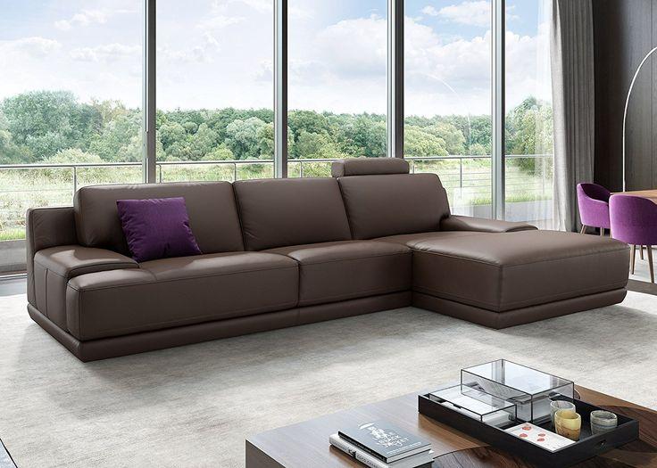 Design Leder Eckcouch Ecksofa Sofa Couchgarnitur Wohnlandschaft Polsterecke Eckgarnitur