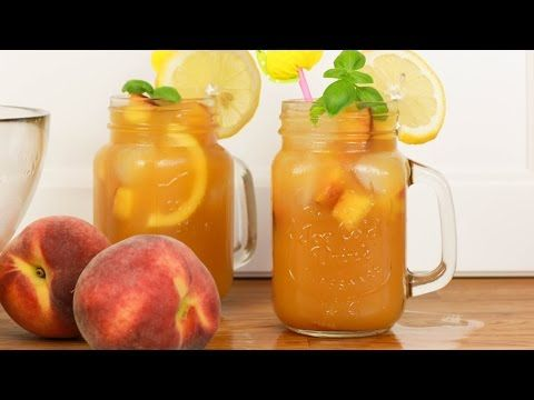 Pfirsich Eistee selber machen - Sommerliche Getränke #YUMMYJULI | yummypilgrim - YouTube