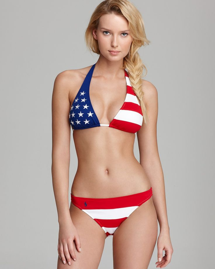 Ralph Lauren Blue Label Stars and Stripes Bikini Top & Hipster Bikini Bottom | Bloomingdale's