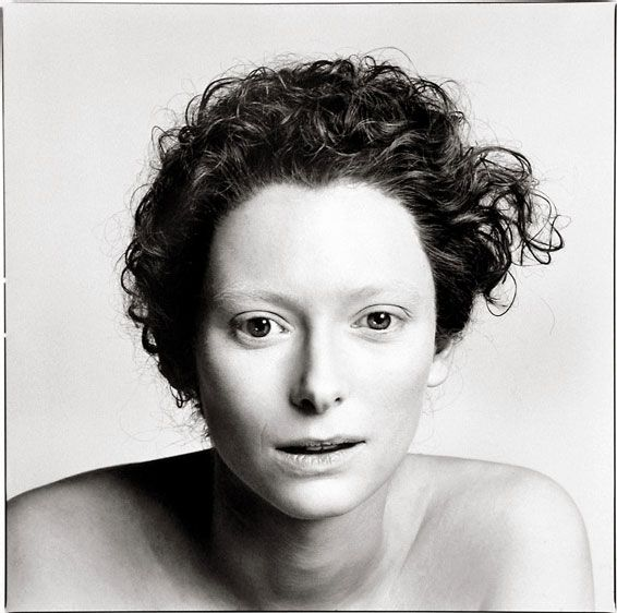 tilda swinton by avedon