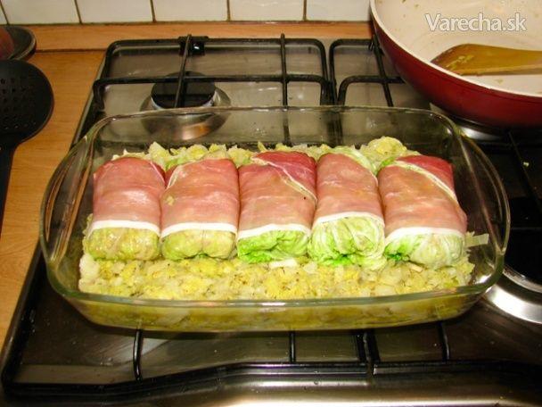 Pečené mäsové závitky v kapuste (fotorecept) - Recept
