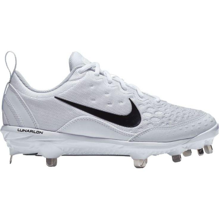 Nike Women\u0027s Lunar Hyperdiamond 2 Pro Fastpitch Softball Cleats, Size:  10.0, White