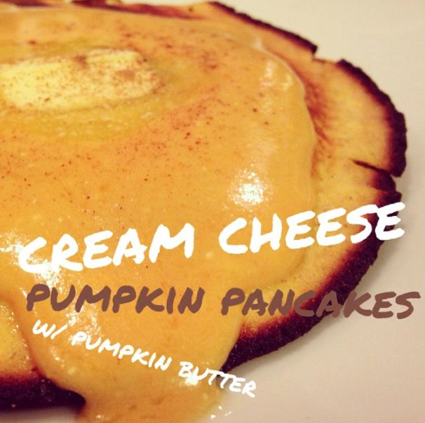 Low Carb Cream Cheese Pumpkin Pancakes w/ Pumpkin Butter