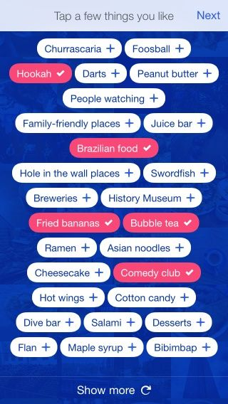 Foursquare - Find Restaurants, Bars & Deals Screenshots  Tags for restaurants