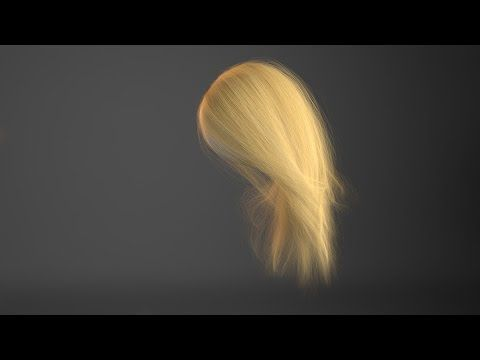 Maya Xgen: physically accurate hair color using melanin. - YouTube
