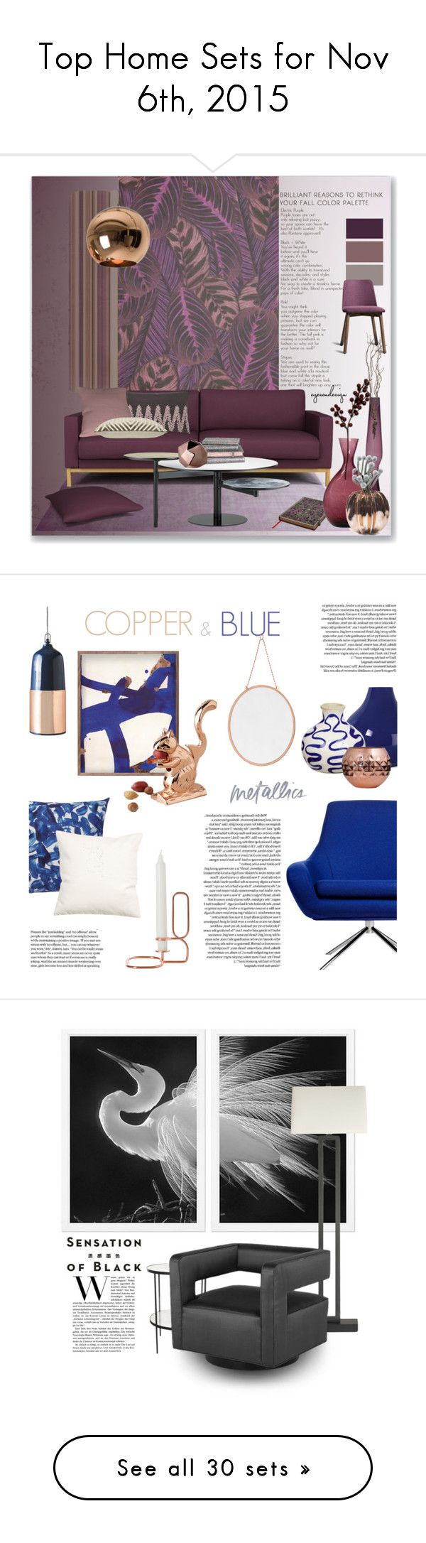 """""""Top Home Sets for Nov 6th, 2015"""" by polyvore ❤ liked on Polyvore featuring interior, interiors, interior design, thuis, home decor, interior decorating, Benjamin Moore, Blenko, Blu Dot en Murmur"""