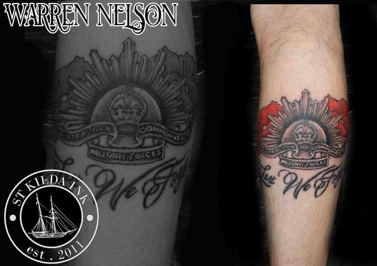 Anzac Tribute Tattoo   #Anzac #Tribute #Tattoo #poppy #poppytattoo #anzactattoo #tributetattoo