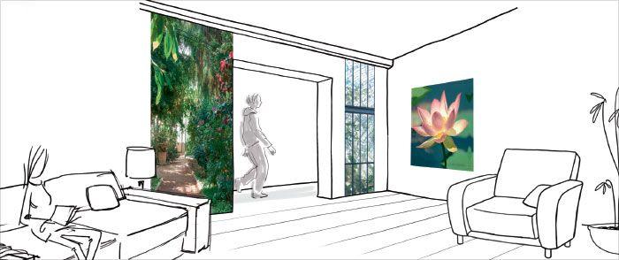 Jardin en ville : idée décoration végétale intérieure