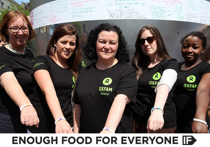 Oxfam Ireland supporting the IF campaign at the Spire of Dublin on this the Global Day of Action #Food4All #IF