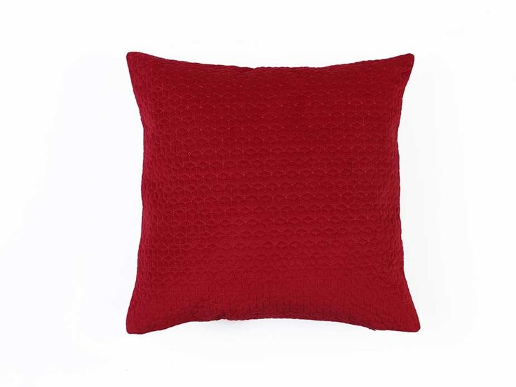 Red Quilted Cushion Cover