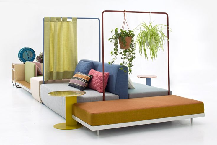 Bikini Island by German designer Werner Aisslinger, created for Italian furniture brand Moroso, is a new approach to a living room couch. Instead of traditional mono-directional sofa, facing the co...