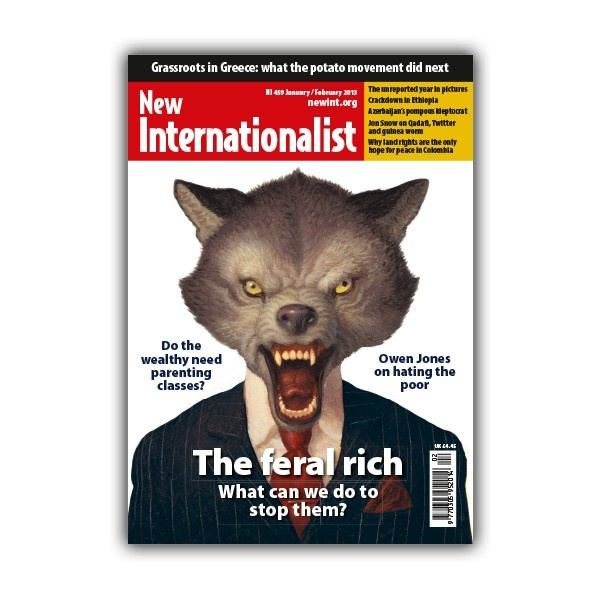 New Internationalist a monthly publication.