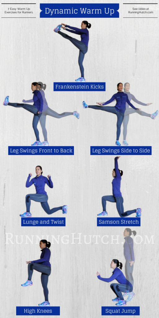 7 Dynamic Warm Up Moves for Runners - Matters Of Course. Looks short enough to do quickly in cold weather