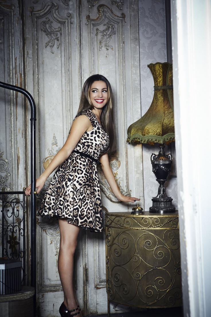 Work in like Kelly in this leopard print dress  http://www.newlook.com/shop/womens/dresses/kelly-brook-animal-print-prom-dress_261141229  #NewLookFashion  #kellybrook