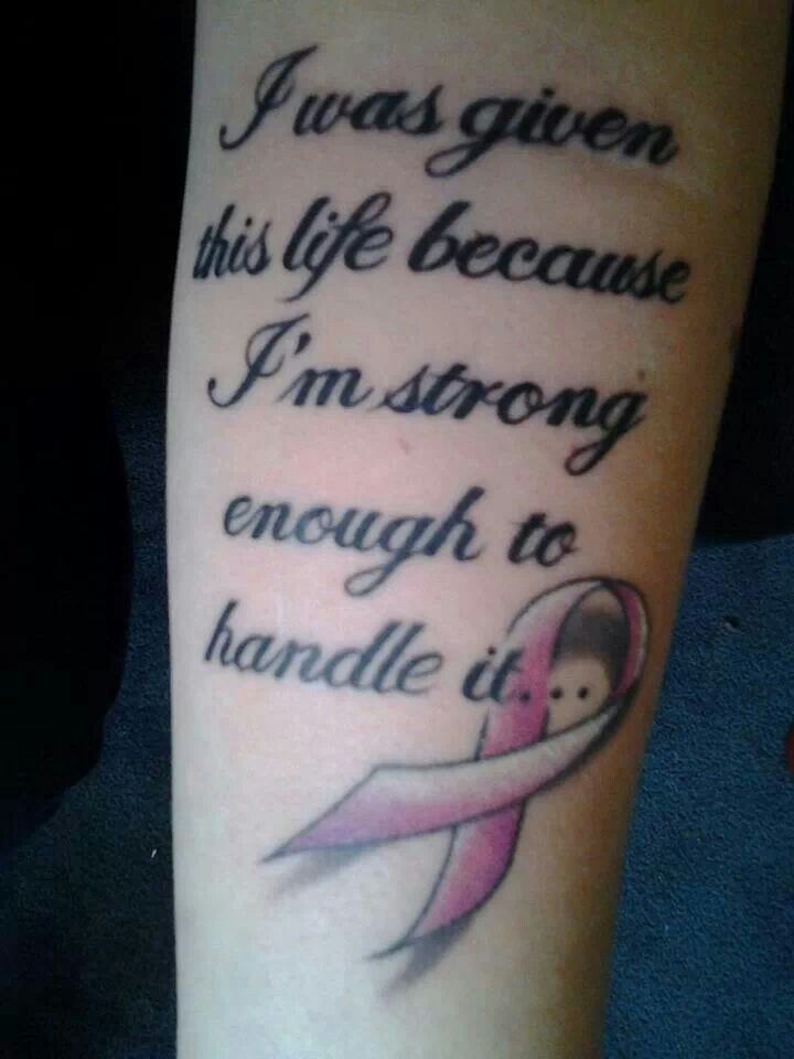 """I was given this life because I'm strong enough to handle it..."" www.komeniowa.org"