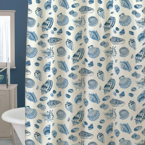 You Can Turn Your Bathroom Into A Serene Beach Getaway In An Instant With A  Fashionable Coastal Shower Curtain!