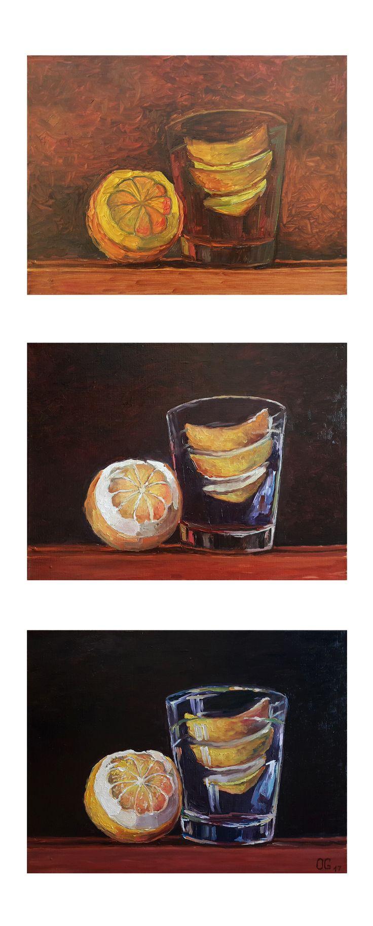 Рисование маслом поэтапно. Картина маслом лимон. Студия рисования и живописи Артинтент. Ольга Гут 30х40, холст масло. Рисование и живопись для начинающих. Как рисовать маслом Научиться рисовать