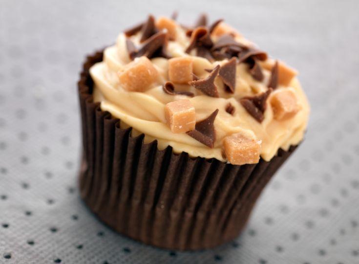 Brownie cupcakes s arašidovým krémom