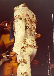 Elvis Aaron Presley: June 30, 1973  Elvis performed at the Cincinnati Gardens, Cincinnati, Ohio at 8:30 p.m. The crowd was 13060 and Elvis proudly wore the 1973 Americn eagle suit