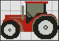 """Tractor 2 Red Complete Counted Cross Stitch Kit 4"""" x 3"""" in Crafts, Needlecrafts & Yarn, Embroidery & Cross Stitch 