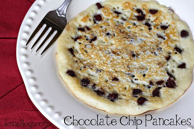 Chocolate Chip Pancakes {from scratch}Breakfast Ideas, Healthy Pancakes From Scratch, Chocolate Chips, Maine Dishes, Main Dishes, Jenna Journey, Breakfast Food, Chocolates Chips Pancakes, Breakfast Meals