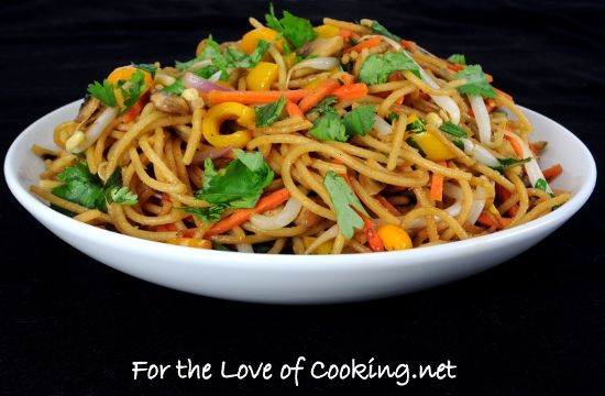 Vegetable Lo Mein: 8 oz Whole wheat spaghetti noodles ...