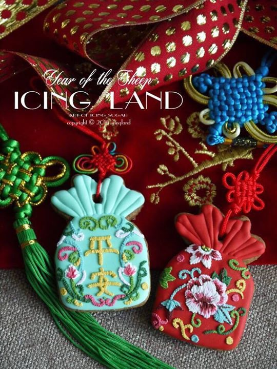 icing land Chinese embroidery cookies