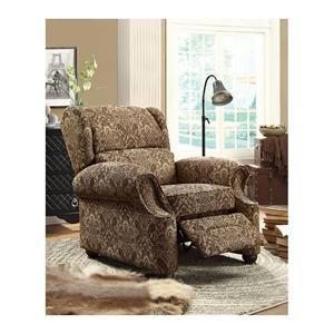 Push-Back Recliner in Brown Leaf Pattern | Nebraska Furniture Mart